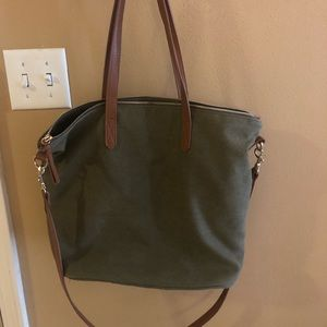 Old Navy Olive Green Canvas Tote
